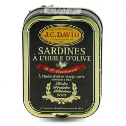 Sardines à l'huile d'olive millésimées JC David 115g