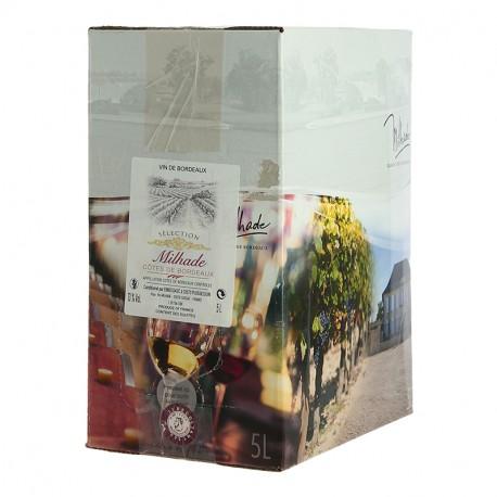 BIB Côtes de Bordeaux Rouge par Milhade 5 Litres