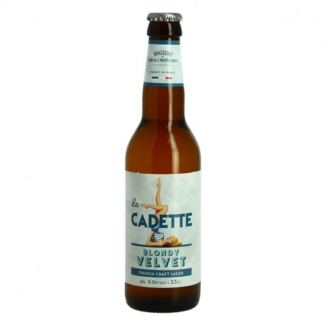 La Cadette Bière Blonde 33 cl par Brasserie Castelain