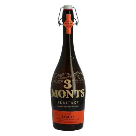 Bière 3 Monts Héritage Levure Bière Blonde non filtrée 75 cl