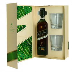 Johnnie Walker 15 ans GREEN LABEL Coffret + 2 Verres