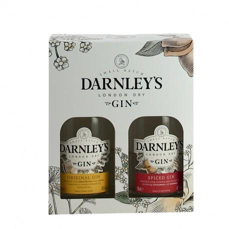 DARNLEYS London Dry Gin & Spiced Gin  2 X 20 cl Coffret Cadeau
