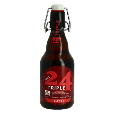 PAGE 24 Triple Bière de Garde Blonde 33 cl