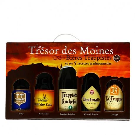 Coffret de bières Trappistes Trésor des Moines 5X33cl
