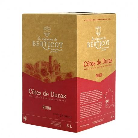BIB Prélude de Berticot 5 litres Côtes de Duras Vin Rouge du Sud-Ouest