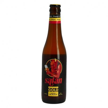 Satan Gold Bière Belge blonde 33 cl