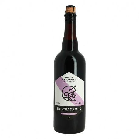 NOSTRADAMUS bière belge brune 75cl Brasserie Caracole