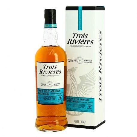Rhum 3 RIVIERES Finition fût d'Irish Whiskey TEELING