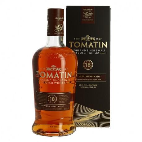 Tomatin 18 ans finition fût de Sherry Oloroso Highlands Single Malt Scotch Whisky
