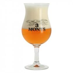 VERRE TROIS MONTS 33 cl Bière Blonde des Flandres