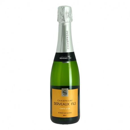 Demi bouteille Champagne SERVEAUX CARTE D'OR Champagne 37.5 cl