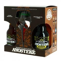 Coffret Bière ANOSTEKE 4 X 33 cl + 1 Verre