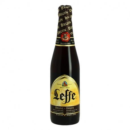 Bière belge d'abbaye Leffe Brune 33cl