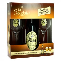 La GOUDALE BLONDE Coffret 2 x 75cl + 2 Verres