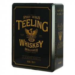 Coffret TEELING Irish WHISKEY 70CL + 2 Verres
