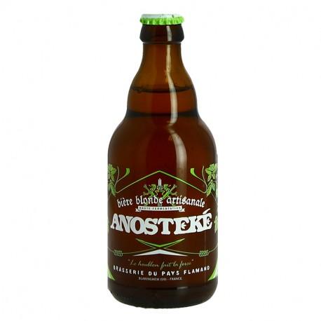 ANOSTEKE Bière Blonde Artisanale 75 cl Meilleure Bière Blonde du Monde World Beer Awards 33 cl
