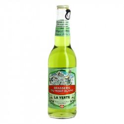 La Verte Bière Aromatisée au Génépi par la Brasserie du Mont Blanc
