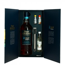 Coffret Rhum TROIS RIVIERES VSOP OLD FASHIONED
