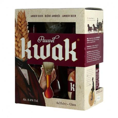 COFFRET KWAK 4X33 cl + 1 VERRE