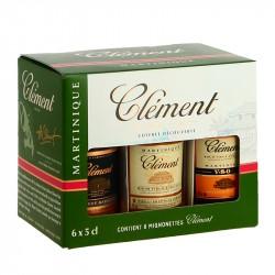COFFRET de 6 x 5 cl Mignonnettes de Rhum Clement