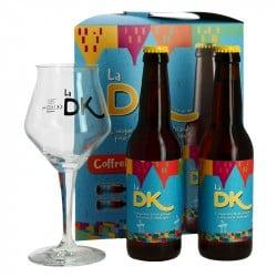 La DK Bière Artisanale des Flandres Coffret Cadeau 2x33cl + 1Verre