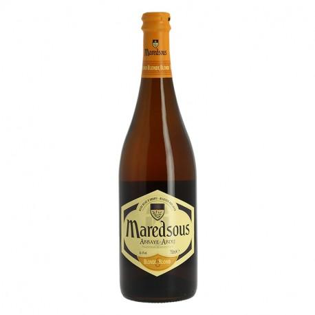 Bière Belge d'abbaye Blonde MAREDSOUS de tradition bénédictine 75 cl