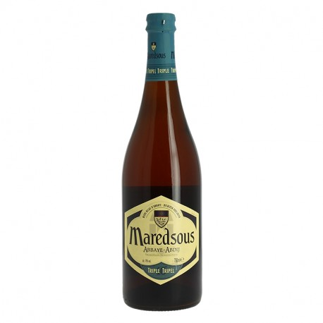 Bière Belge d'abbaye Triple MAREDSOUS de tradition bénédictine 75 cl