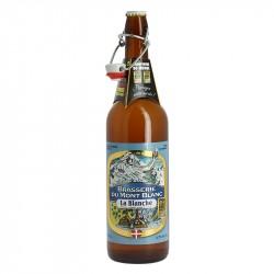 Bière blanche artisanale Brasserie du Mont Blanc La Blanche 75CL