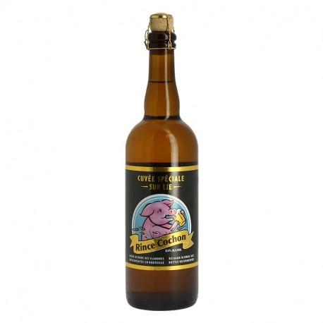 Rince Cochon Bière Belge Blonde sur Lie 75cl