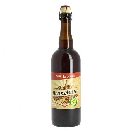 Bière Brunehaut Ambrée BIO et Sans Gluten 75cl