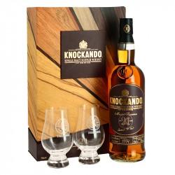 Coffret Knockando 21 ans Master Reserve Speyside Whisky + 2 Verres