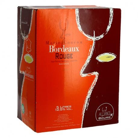 BORDEAUX Rouge MOTTES COUCOU BIB 5 Litres