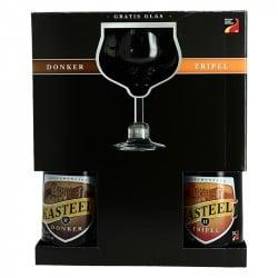 COFFRET KASTEEL 2 X 75 CL + 1 VERRE