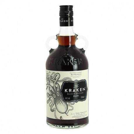 Rhum The KRAKEN Black Spiced Rum Rhum Epicé des Caraïbes 70 cl