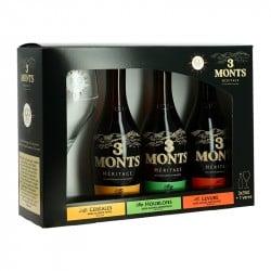 Bières TROIS MONTS Héritage Coffret Cadeau 3x33 cl + 1 Verre