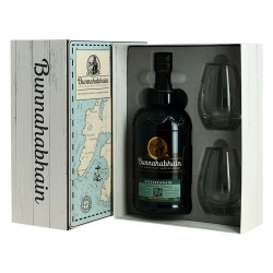 BUNNAHABHAIN Stiuireadair Islay Single Malt Whiskey Coffret Cadeau + 2 Verres