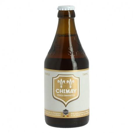 CHIMAY Bière Belge TRIPLE Etiquette Blanche 33 cl