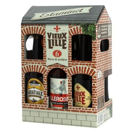 COFFRET ESTAMINET Bières des Hauts de France 6 X 33 cl