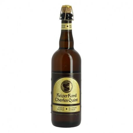 Bière CHARLES QUINT KEIZER KAREL Bière Belge Blonde Dorée 75 cl