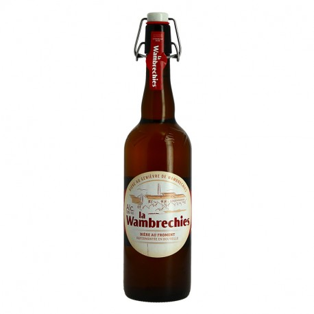 La WAMBRECHIES Bière Belge Blonde Aromatisée au Genièvre 75cl