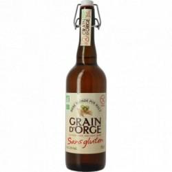 GRAIN D'ORGE Bière BIO SANS GLUTEN 75 cl