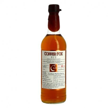 Copper Fox Rye Whiskey 70cl 45°