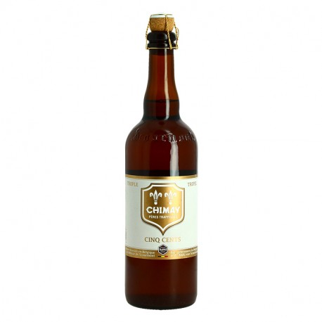 CHIMAY TRIPLE Etiqutte Blanche Bière Belge Trappiste 75 cl