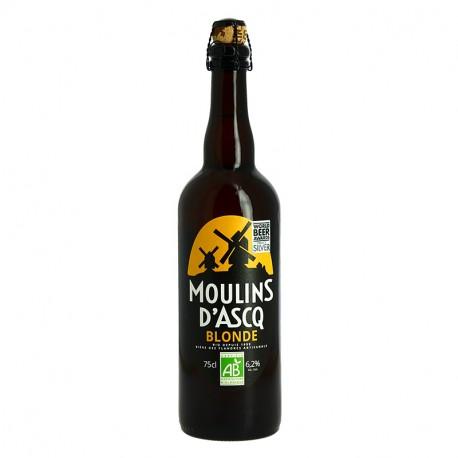 Moulins d'Ascq Bière Biologique Artisanale Blonde 75cl
