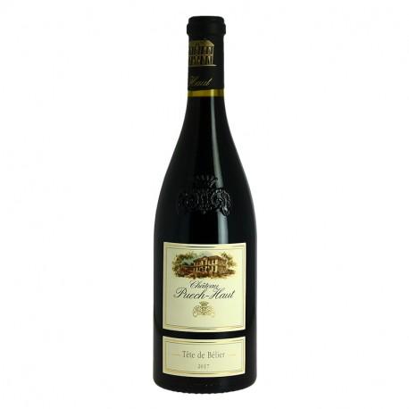 Tête de bellier Château Puech  Haut Saint Drézéry Vin Rouge du Languedoc
