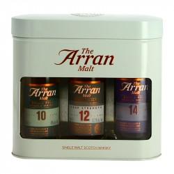 ARRAN Coffret 3 mignonettes whisky ARRAN 10 /12/14 ans  3 x 5cl