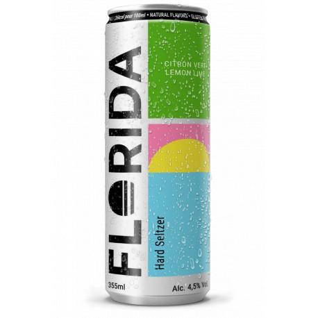 Hard Seltzer FLORIDA Arôme Citron Vert Eau Pétillante alcoolisée 35.5 cl