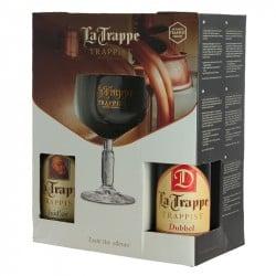 Coffret Bière Trappiste La Trappe 4 x 33 cl + 1 Verre