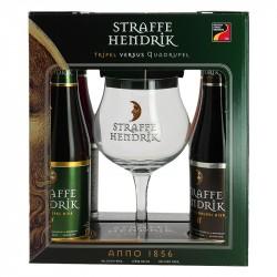 Coffret Bière STRAFFE HENDRIK 4X33 cl + 1 Verre à Bière