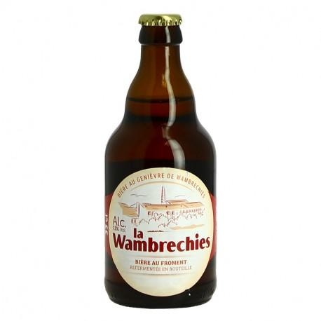 La WAMBRECHIES Bière Belge Blonde Aromatisée au Genièvre 33 cl